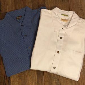 Set of two Royal Robbins travel shirts